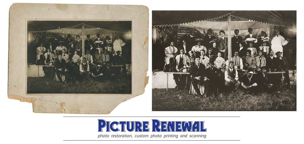 Black Mistrel Troupe Photo Restoration