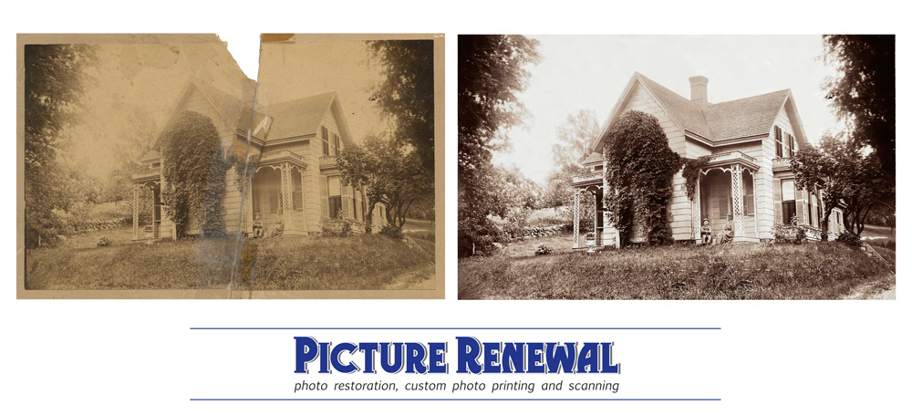 Picture Renewal Photo Restoration Historic Home The Bartlett House 1845 restored