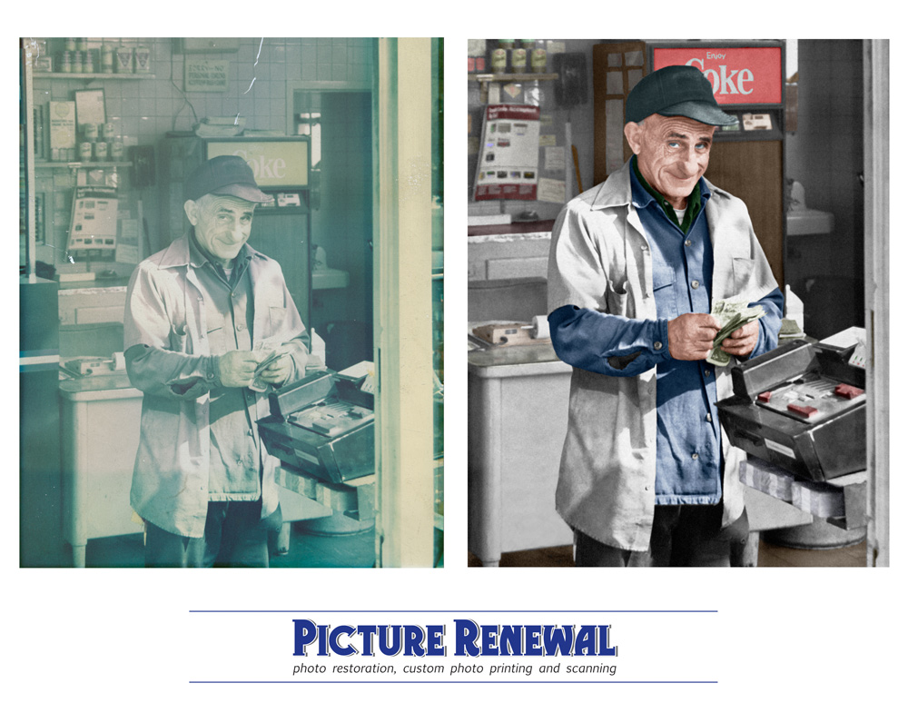Picture Renewal Photo Restoration Faded color print hand colorized