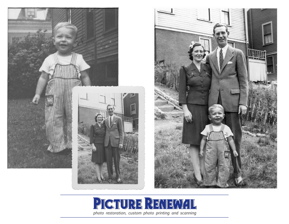 Picture Renewal Photo Restoration Two photos merged and manipulated into one