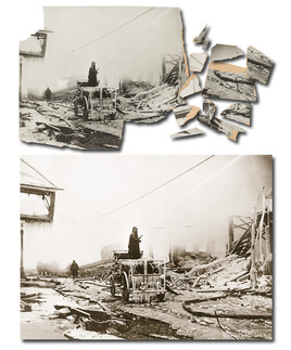 Picture Renewal photo restoration Great Molasses Flood Boston 1919