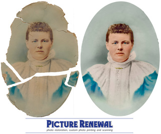 Crayon Portrait c.1890 Photo restoration
