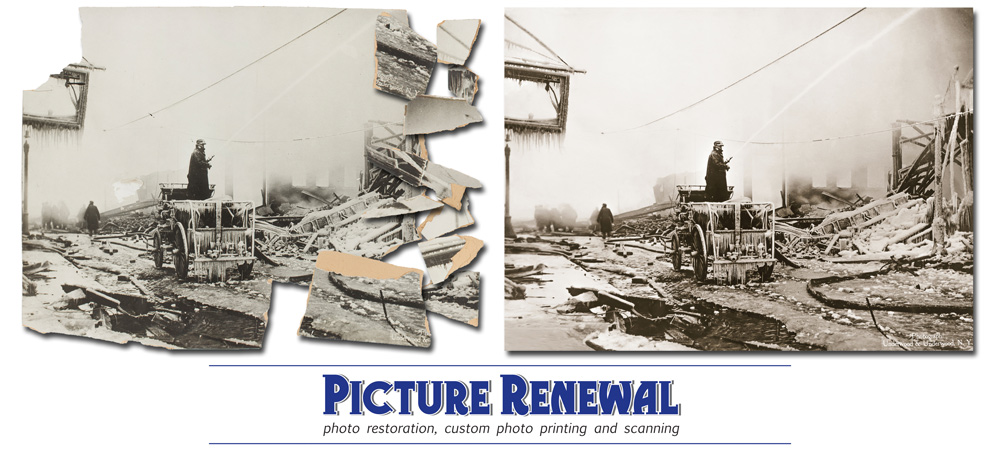 Picture Renewal Photo Restoration The Great Molasses Flood 191 photo in pieces restored