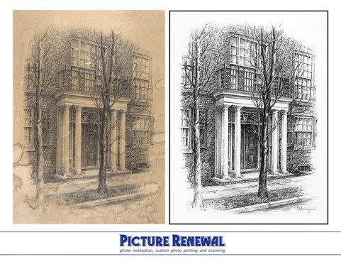 Line Drawing Restoration by Picture Renewal