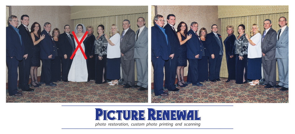 Picture Renewal Photo Restoration Photo Manipulation Remove Bride